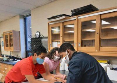 Studentas at table